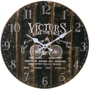 Victors Bicycle 32623 - Large Rustic Retro Kitchen Wall Clock 34cm